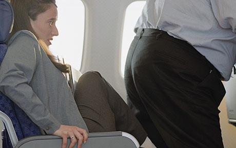 Middle seat on a plane