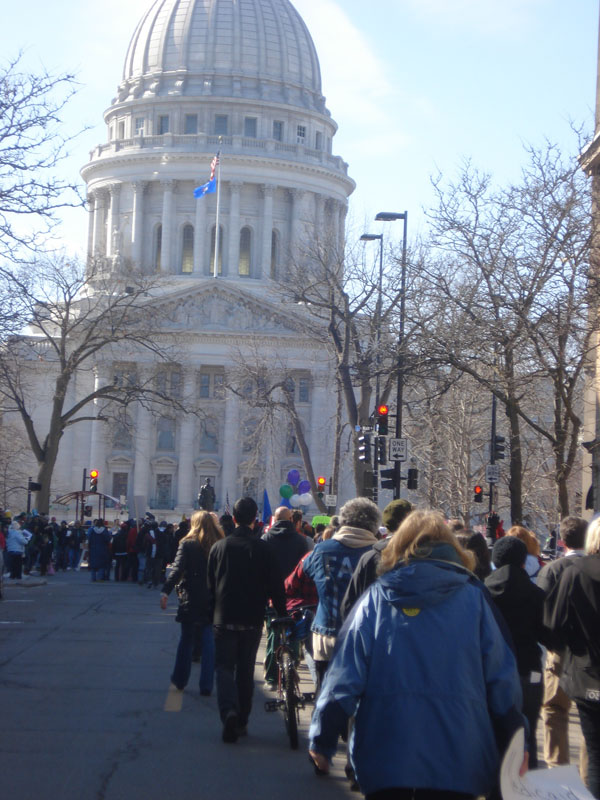P.O.W.E.R. Walkers arrive at Wisconsin State Capitol