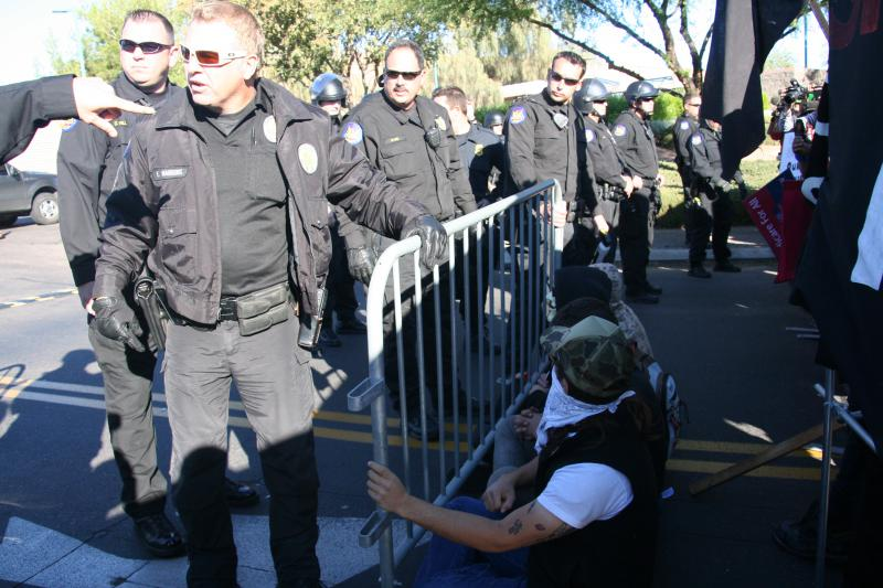 Phoenix police before arrests 11/30/11