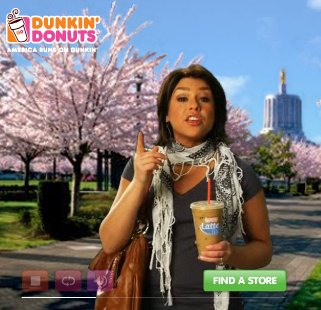 Rachael Ray Dunkin Donuts ad featuring controversial scarf