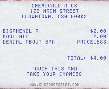 Chemicals R Us receipt