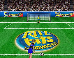 Ritz Bits soccer screen shot