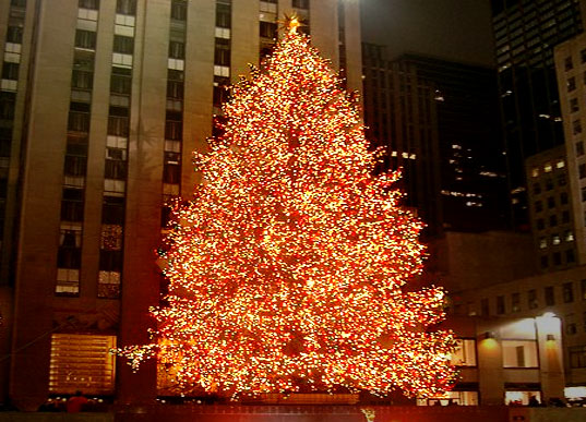 The Rockefeller Center Christmas tree where NLC released their report
