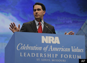 Scott Walker at NRA convention (Source: Palm Beach Post)