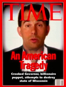 Scott Walker photoshopped on Time magazine's O.J. Simpson cover