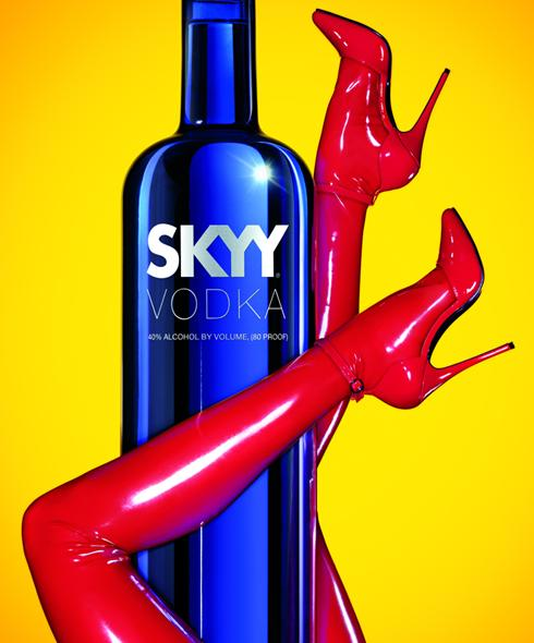 Sexy Skyy vodka ad