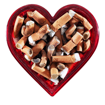 Heart attacks caused by smoking