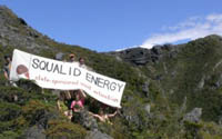 Solid Energy protest: Source: Happy Valley Coalition