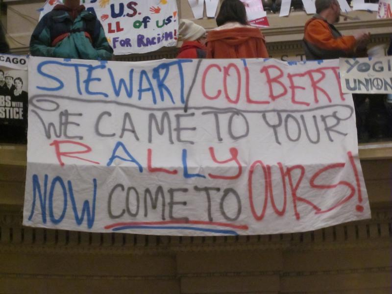 Stewart/Colbert, We Came To Your Rally, Now Come To Ours!