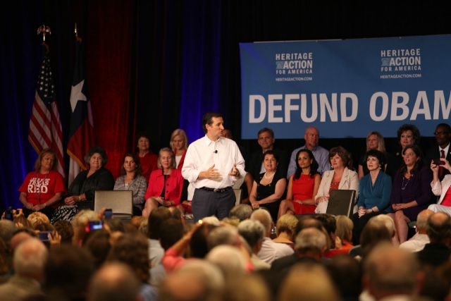 Texas Senator Ted Cruz speaking at a Heritage Action event in August 2013 (Photo: Heritage Action for America)
