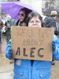 Sign from the 2011 Wisconsin protests