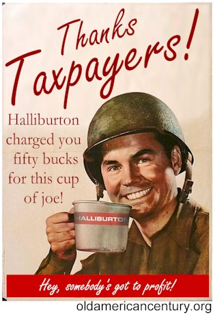 Thanks Taxpayers! Halliburton charged you fifty bucks for this cup of joe!