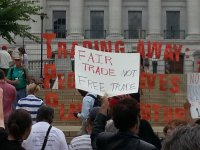 Family Farm Defenders protest against Trans Pacific Partnership (TPP), August 2013