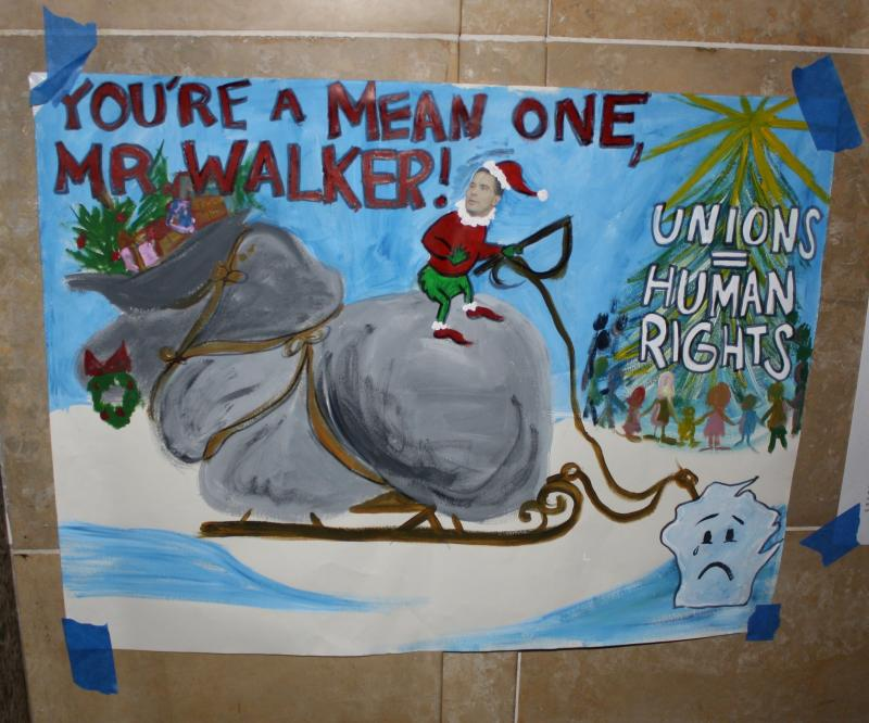 You're A Mean One, Mr. Walker! (Unions = Human Rights)