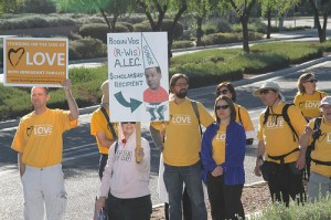 Unitarian Universalists join the ALEC protest in Scottsdale