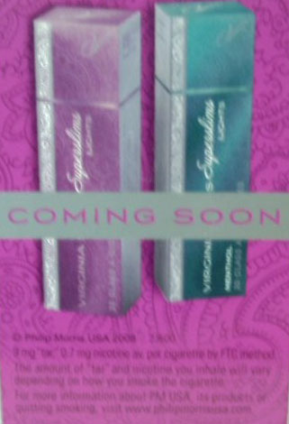 "Virginia Slims new, pink ""purse pack"""