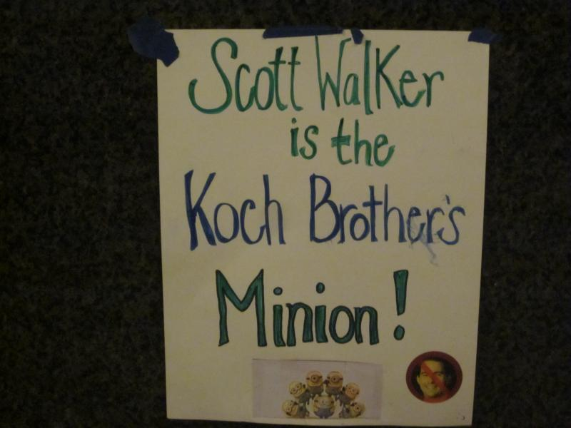 Scott Walker is the Koch Brother's minion