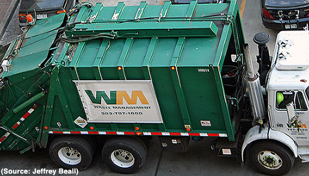 Waste Management garbage truck (Source: Jeffrey Beall)