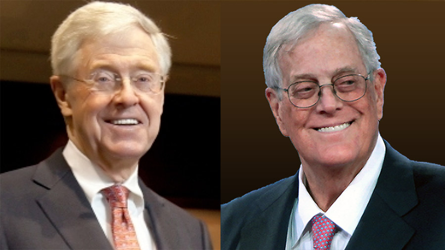 Update koch candidates where is the koch machine spending for Charles und david koch