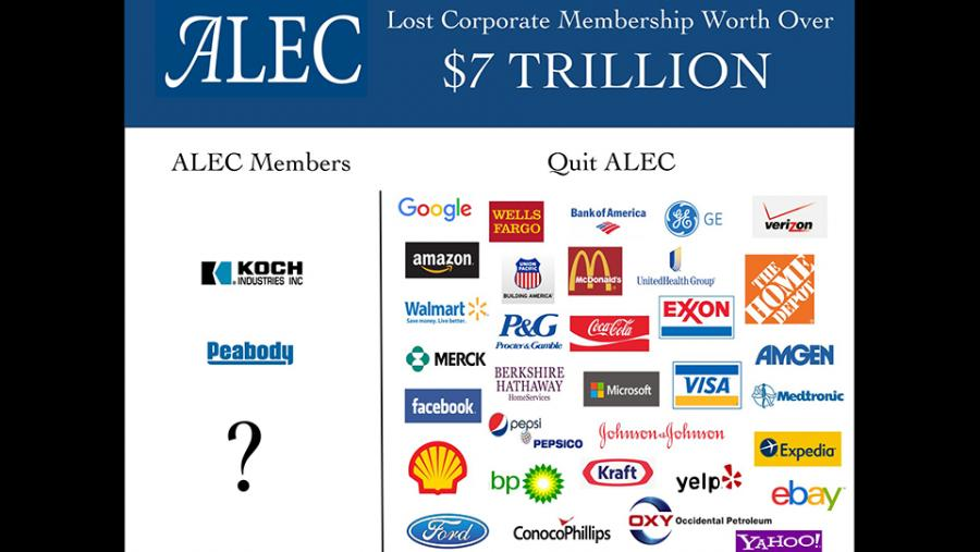 ALEC lost corporate membership worth over $7 trillion
