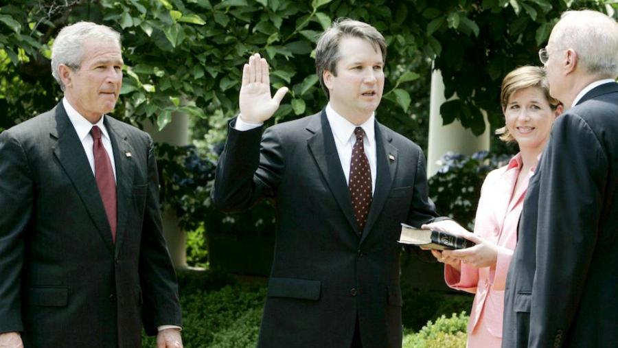 President Bush attending Kavanaugh's swearing-in ceremony, 2006.