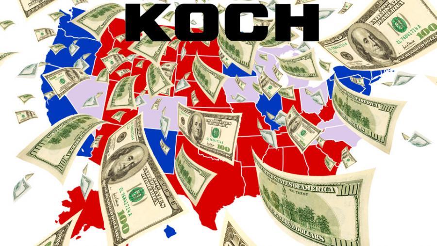Koch money in elections.