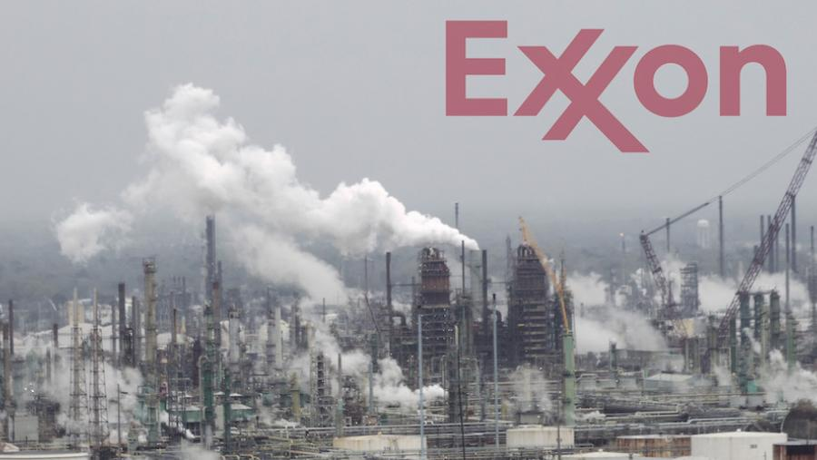 Refinery with Exxon logo