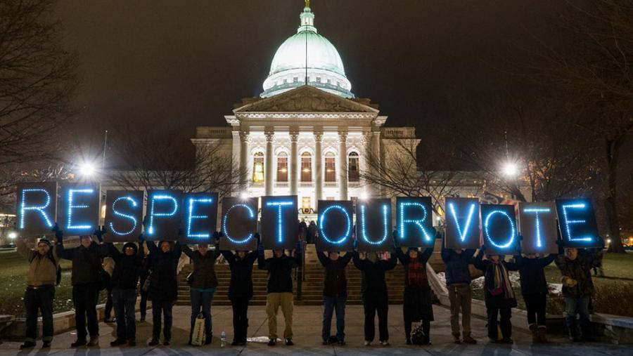 Respect Our Vote - Light Brigade