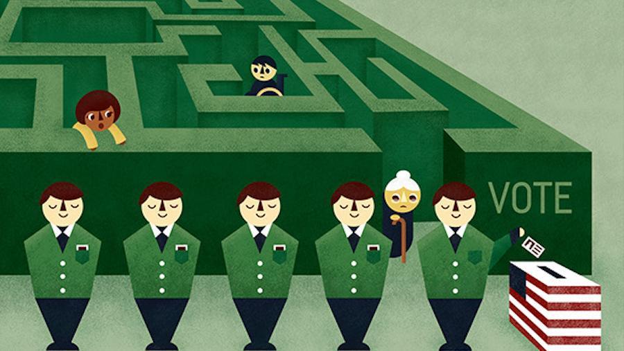 Voter Suppression Maze, Creative Commons