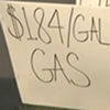 $1.84 a gallon gas sign