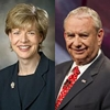 Rep. Tammy Baldwin and Tommy Thompson