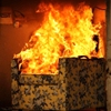 Image of chair in flames