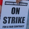 Chicago Teachers' Strike protest sign - source Leslie Peterson