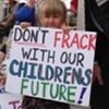 Don't Frack with Children's Future protest sign