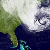 Image of hurricane Sandy from space