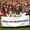 Image of students holding Teach for America banner